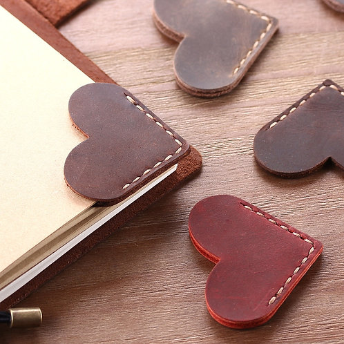 2 Pack Handcrated Vintage Leather Bookmarks