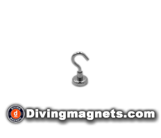 Magnetic Hook - 16mm dia - 5.5kg Pull