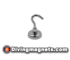 Magnetic Hook - 32mm dia - 34kg Pull