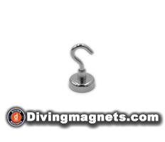 Magnetic Hook - 25mm dia - 22kg Pull