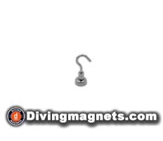 Magnetic Hook - 12mm dia - 3.2kg Pull
