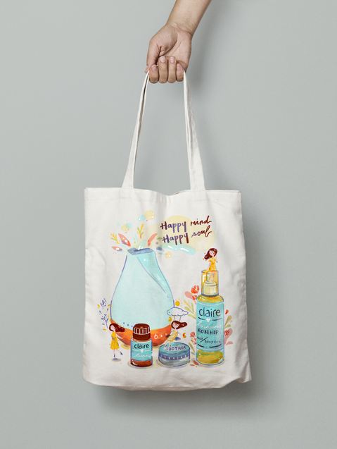Claire Organics Self Love Tote Bag