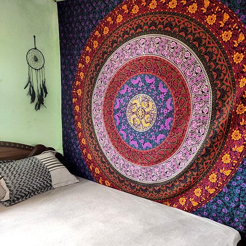 Hippie Multicolor Mamdala Tapestry