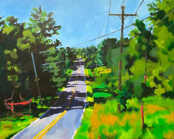 "Along the Way (2021) Acrylic on canvas 24"" x 32"" Available"