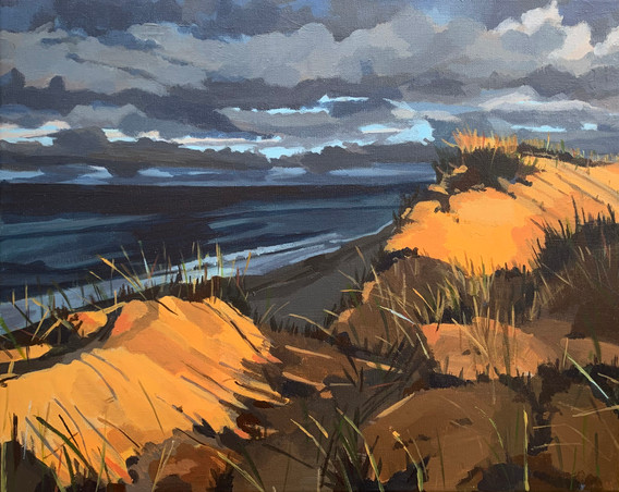 """Between Dunes (2021) Acrylic on canvas 18"""" x 24"""" Available"""