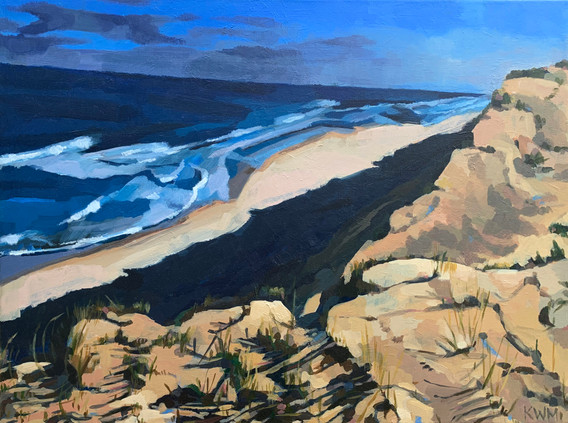 """Winter Dunes (2021) Acrylic on canvas 18"""" x 24"""" Available"""