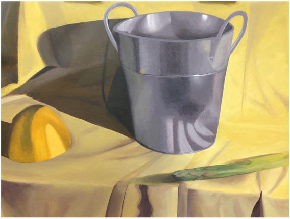 """17.  """"Still Life"""", composition, acrylic on canvas, Painting I, Spring 2017"""