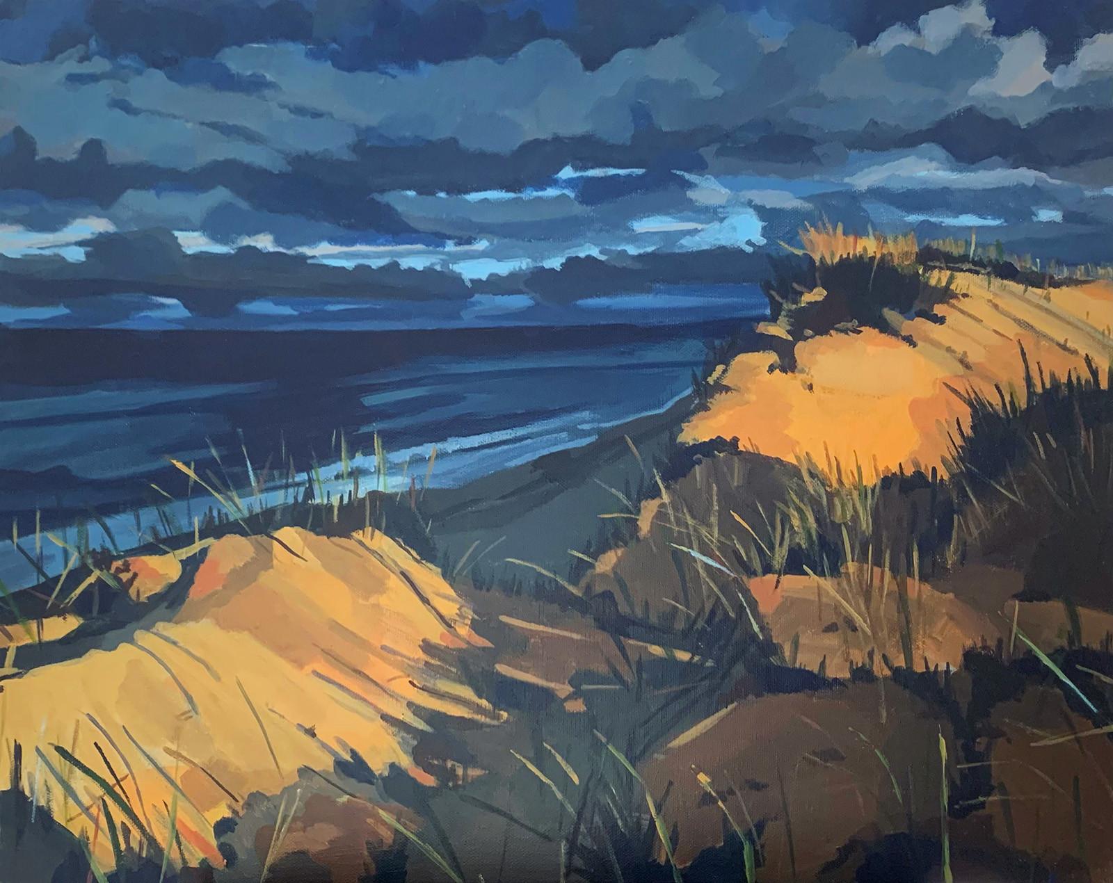 """Dunes (2020) Acrylic on canvas 18"""" x 24"""" Available"""