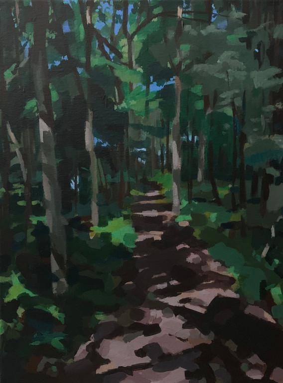 """Threading (2020) Acrylic on canvas 20"""" x 16"""" Available"""