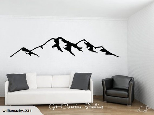 New Zealand Mountain Wall Decal WillDesign Web Design - Wall decals nz