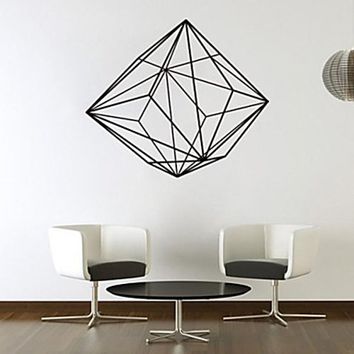 willdesign web design graphic design wall stickers car sticker geometric shape wall stickers - Simple Shapes Wall Design