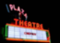 Marquee of The Plaza Theater