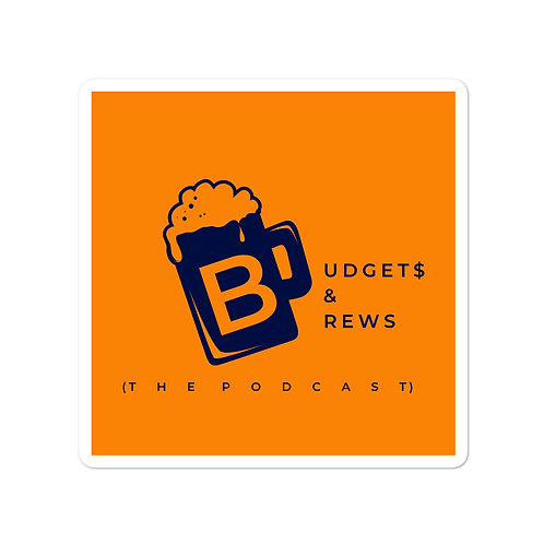 Budgets & Brews Bubble-Free Stickers