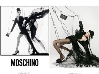 Ищем 10 отличий: Кадр из съемки Numéro Russia c Кate Сast и кампейн Moschino с Ириной Шейк