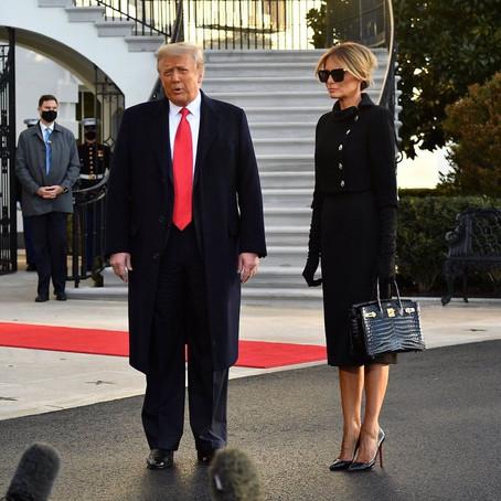 Как прощались Трампы