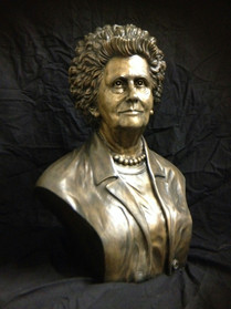 Jeanette L Musgrave bust, life size, bro