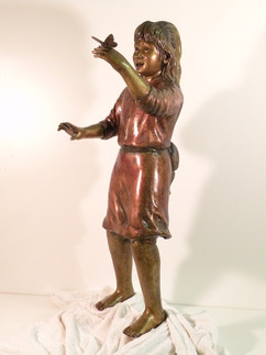 Butterfly Girl, 3' tall, bronze finish.j