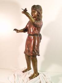 Butterfly Girl, 3' tall, bronze finish.j