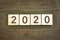 New year Concept 2020 number and typogra