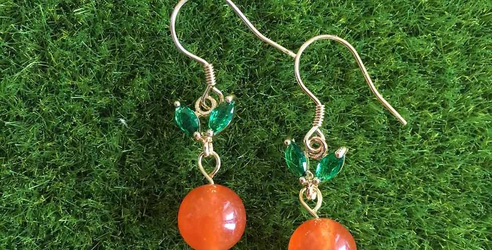 Orange Agate Mandarin Earrings