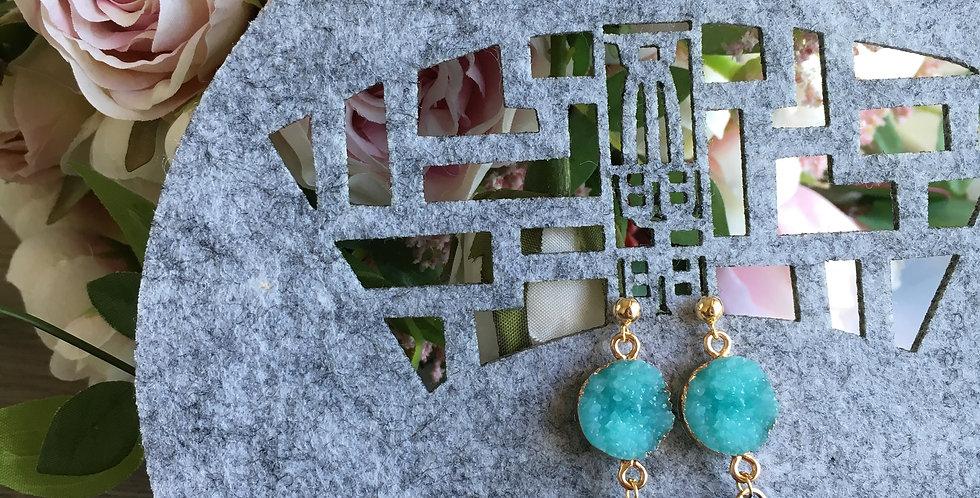 Crystallised Two-Tone Contrast Tassel Earrings
