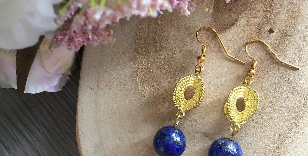 Ropetwist Lapis Lazuli Earrings