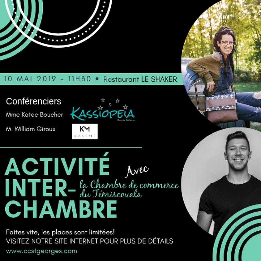 Dîner conférence - ACTIVITÉ INTER-CHAMBRE