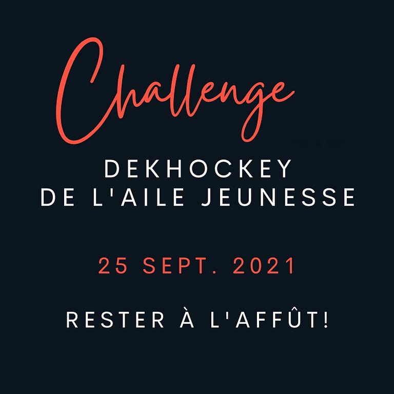 Le Challenge DekHockey de l'Aile jeunesse 2021