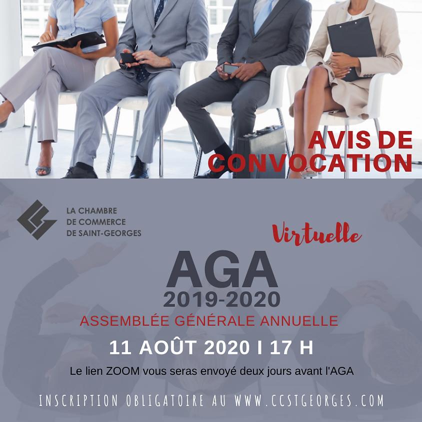 ASSEMBLÉE GÉNÉRALE ANNUELLE DE LA CHAMBRE DE COMMERCE DE SAINT-GEORGES 2019-2020