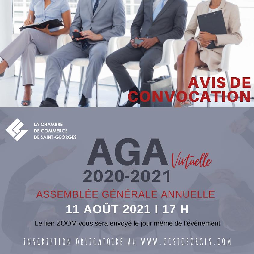 ASSEMBLÉE GÉNÉRALE ANNUELLE DE LA CHAMBRE DE COMMERCE DE SAINT-GEORGES 2020-2021