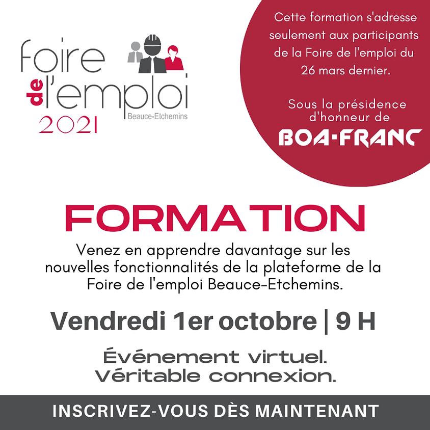 FORMATION - Foire de l'emploi Beauce-Etchemins 2021