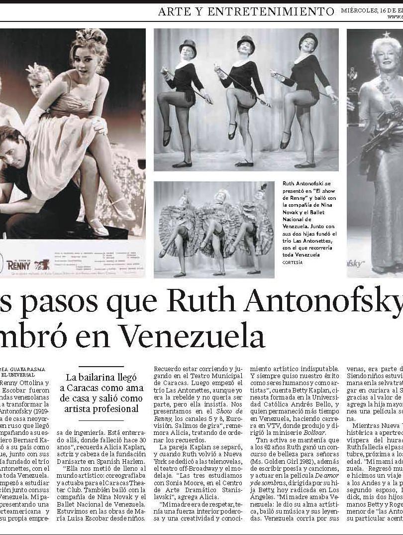 Ruth Antonofsky El Universal
