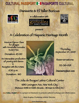 Clutural Passport: A Celebration of Hispanic Heritage Month