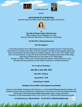 Danisarte: Advanced Playwriting Workshop 2010 with Carmen Rivera