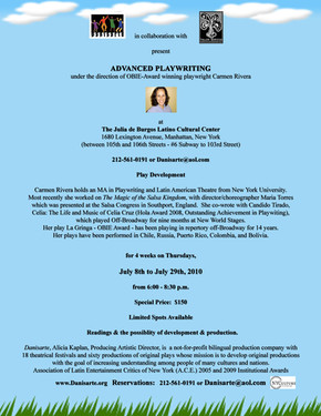 Danisarte: Advanced Playwriting Workshop 2010 with Carmen Rivera