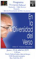 Danisarte: Julio Garcia Sánchez, En la Diversidad del Verso