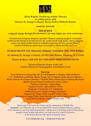 Danisarte: Soliluna Human Right's Day Info NYC