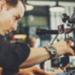 Auckland barista pouring espresso shot
