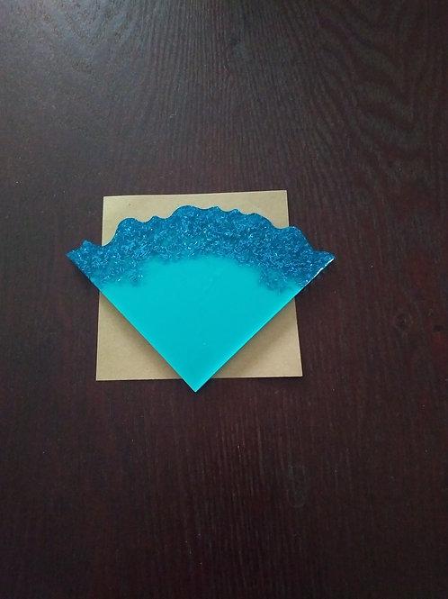 4pc Blue Sky Coaster Set