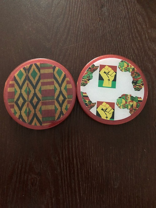 4pc African Coasters