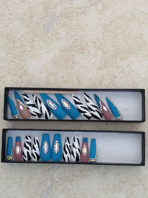 Aqua Zebra Set