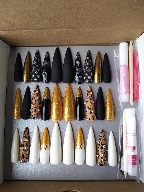 Large Gold Queen Stiletto Box