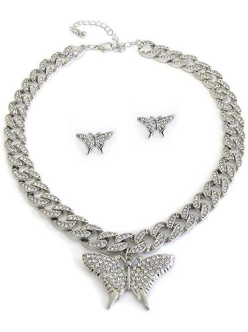 Butterfly Necklace Set