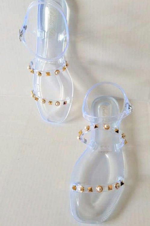 Clear Spike Sandals