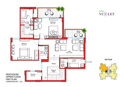 Penthouse Upper Floor Plan