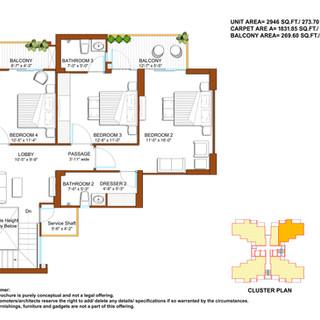 Duplex-Upper Floor Unit Plan