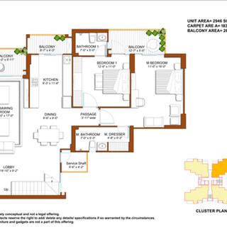 Duplex-Lower Floor Unit Plan
