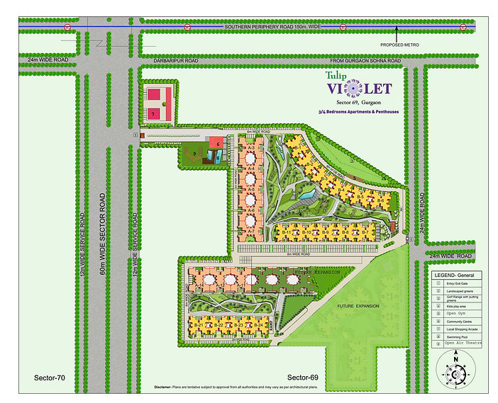 Tulip Violet Site Map