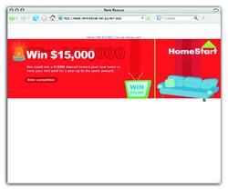 Rent Rescue website