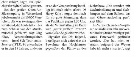 Sylter Rundschau 02.01.2020